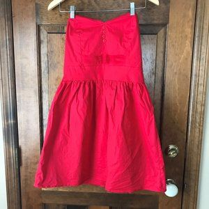 BeBop Red Strapless Dress X-Large